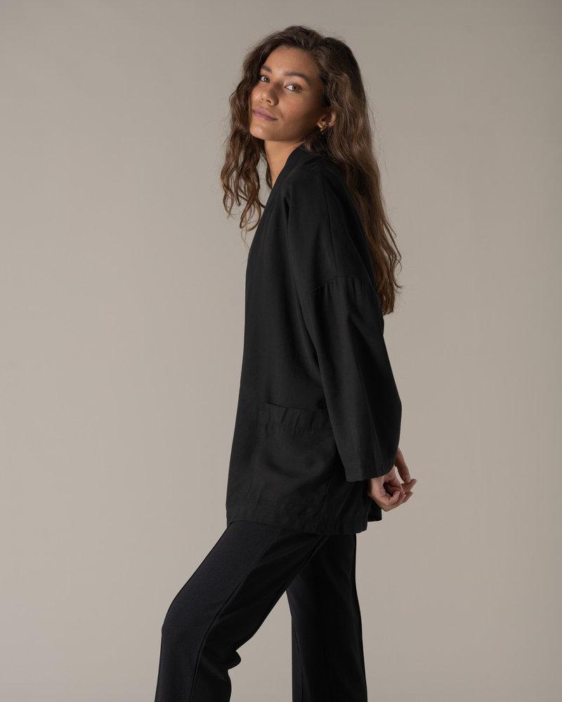 TILTIL Tencel Kimono Black