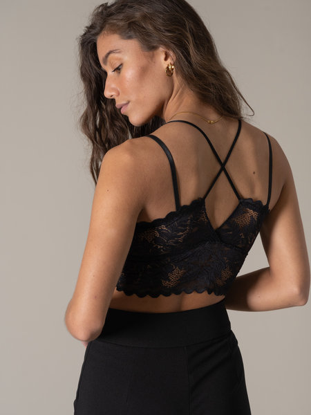 Things I Like Things I Love TILTIL Dees Double Black Lace Bra