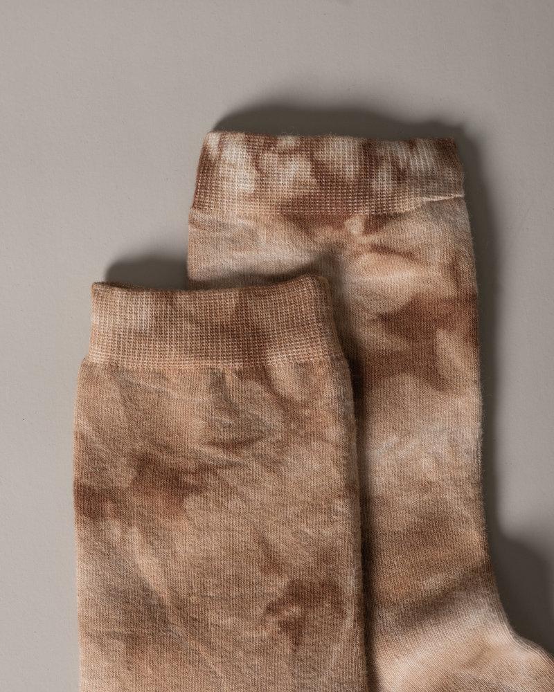 Sydney Tie Dye Socks Brown