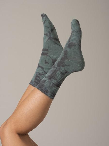 Tokyo Tie Dye Socks Teal