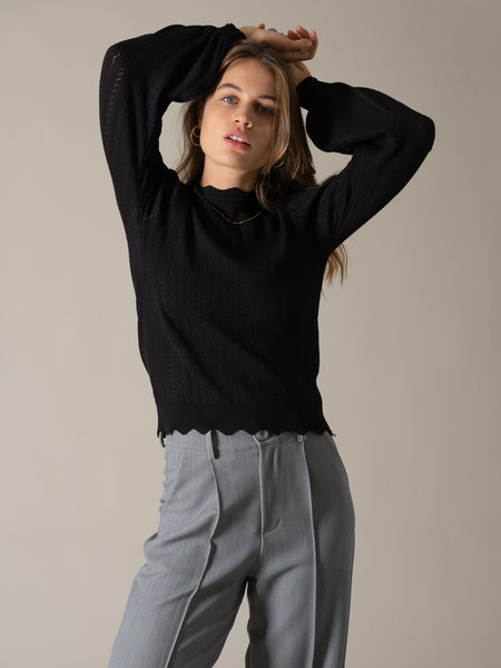 Things I Like Things I Love TILTIL Knitted See Through Sweater Black