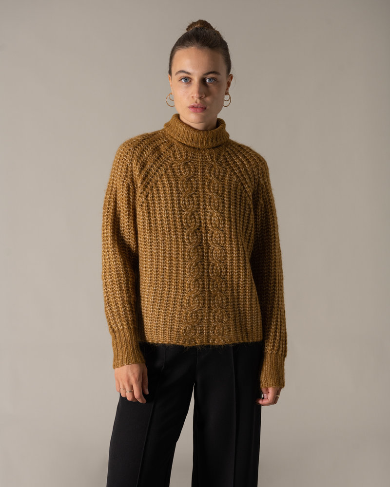 Sudana Rollneck Knit Bombay Brown