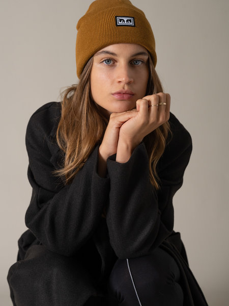 OBEY Icon eyes beanie wood brown