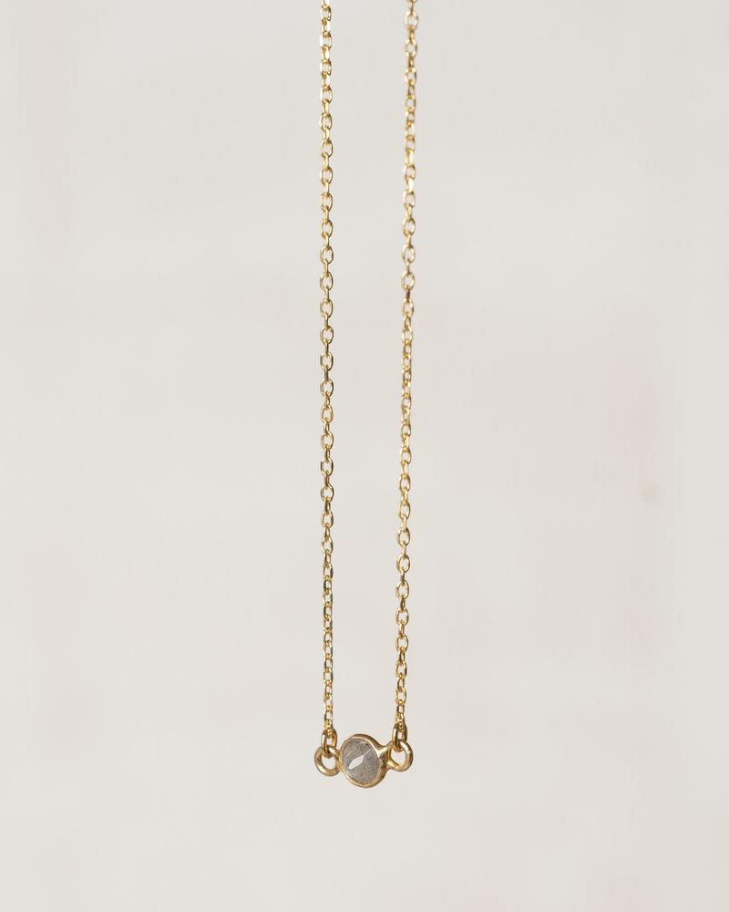 Ess Yello Gold Bracelet Big Dot Grey
