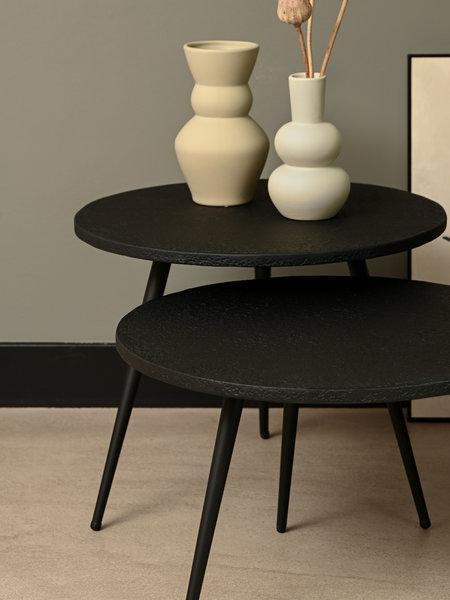 Side Table Suze Black Lava