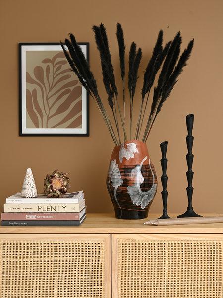 Obsa Vase Brown Stoneware