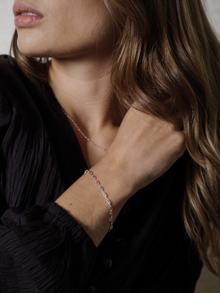 Things I Like Things I Love Cable Hammered Chain Bracelet