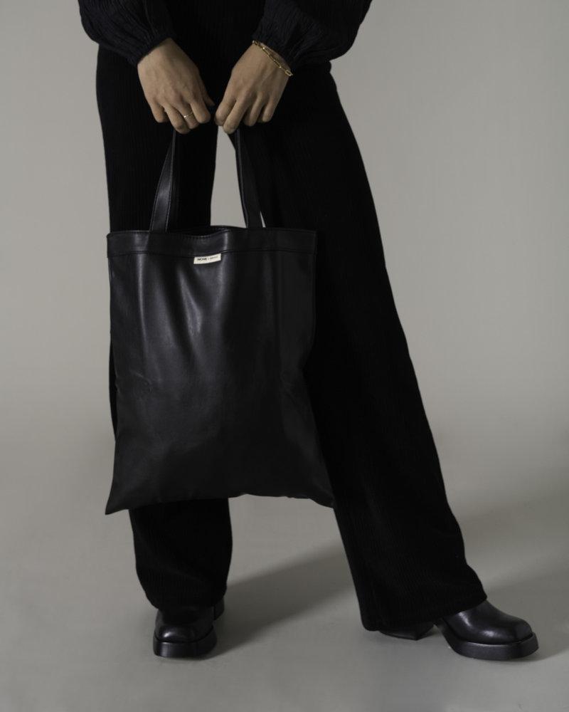 Anna Vegan Leather Shopper Black