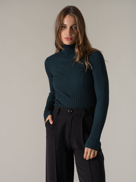 24Colours Roll Neck Green