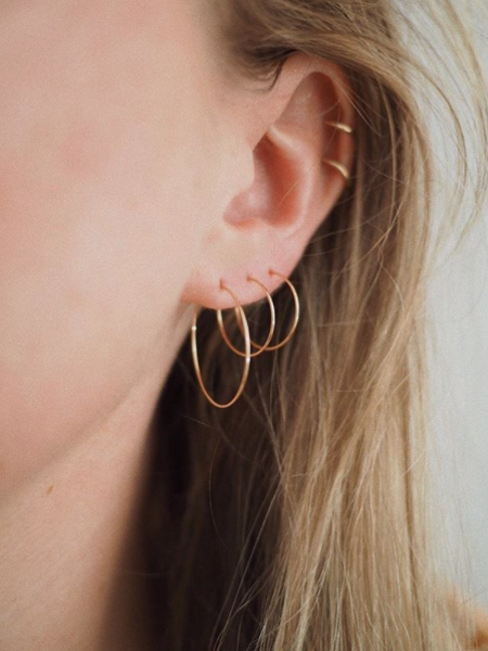 The Two Collectors Hoop Thin Goldfilled