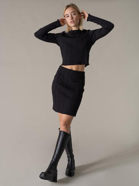 NAKD Structured Mini Skirt Black