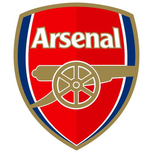 A large selection of Arsenal football shirts