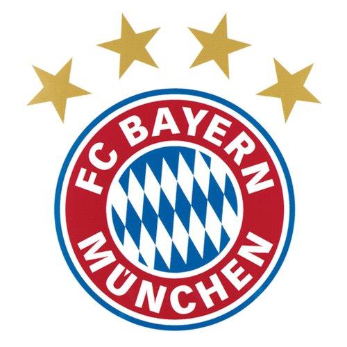 A large selection of football shirts from Bayern Munich