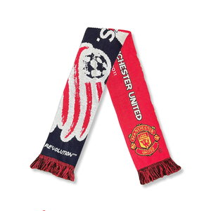 """Scarf Football Scarf """"Manchester United - New England Revolution"""""""
