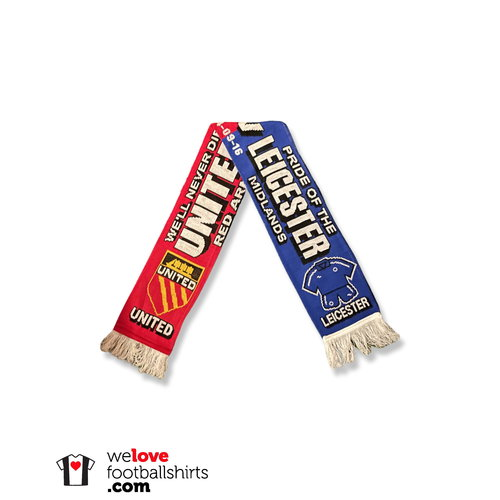 """Scarf Football Scarf """"Leicester City - Manchester United"""""""