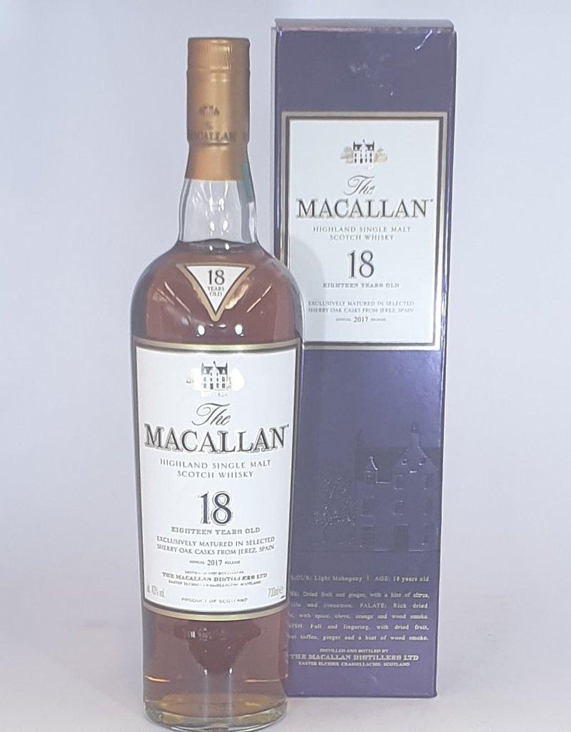 MACALLAN DISTILLERY  Macallan 2017 18yo