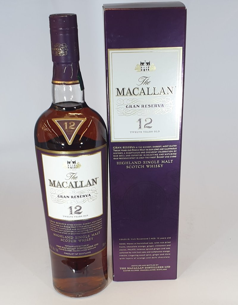 MACALLAN DISTILLERY  Macallan Gran Reserva 12