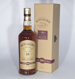 BOWMORE 1991 16  Year Old Port Cask Matured Limited Edition