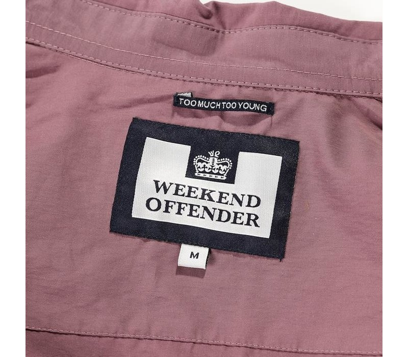 Weekend Offender Naples overshirt jacket Plum