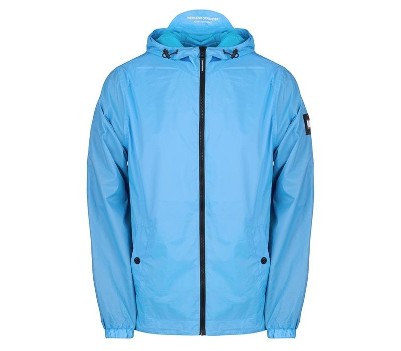 Weekend Offender Fabio hooded jacket Sky