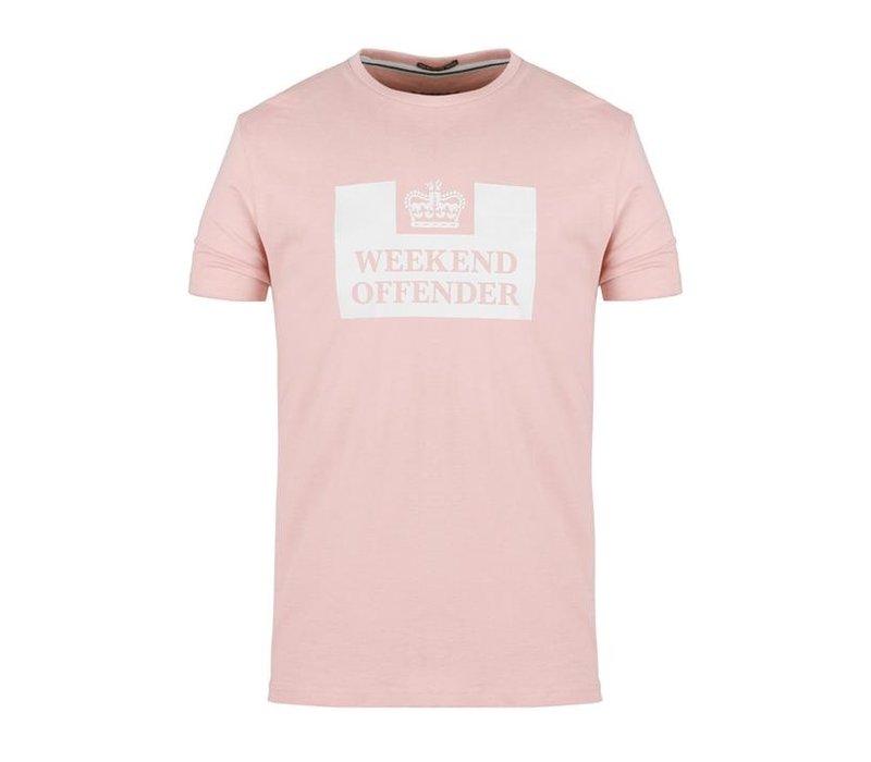 Weekend Offender Prison logo t-shirt Tea rose
