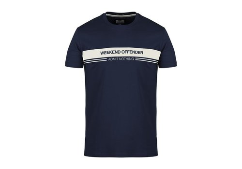 Weekend Offender Weekend Offender W.O.A.N. chest stripe t-shirt Navy