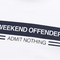 Weekend Offender W.O.A.N. chest stripe t-shirt White