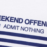 Weekend Offender Half stripes t-shirt White