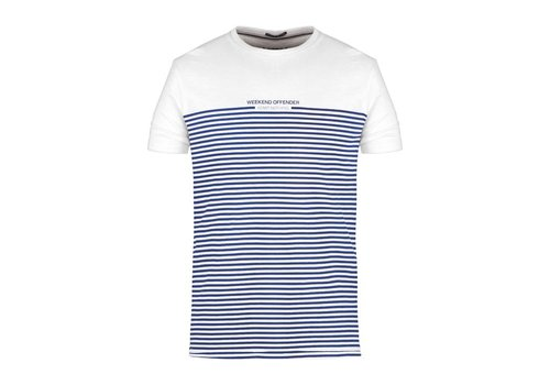 Weekend Offender Weekend Offender Half stripes t-shirt White