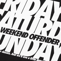 Weekend Offender Friday Saturday Sunday t-shirt Black