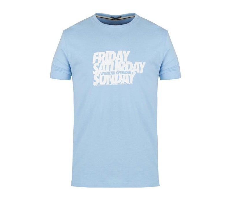 Weekend Offender Friday Saturday Sunday t-shirt Bubble