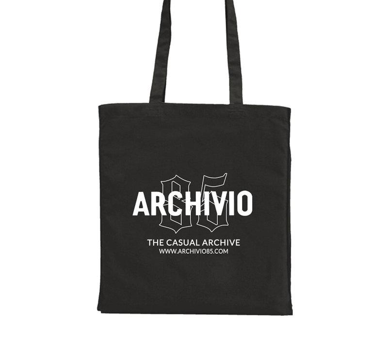 Archivio85 katoenen draagtas Black