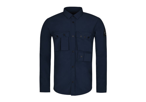 Marshall Artist Marshall Artist garment dyed hiking overshirt Navy