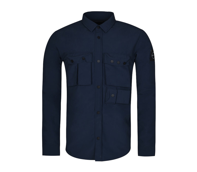 Marshall Artist garment dyed hiking overshirt Navy