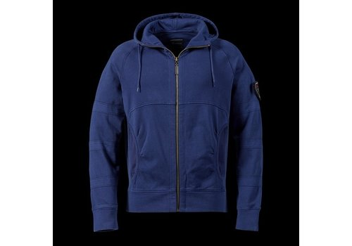Boneville Boneville hooded zip through sweat Blue depths