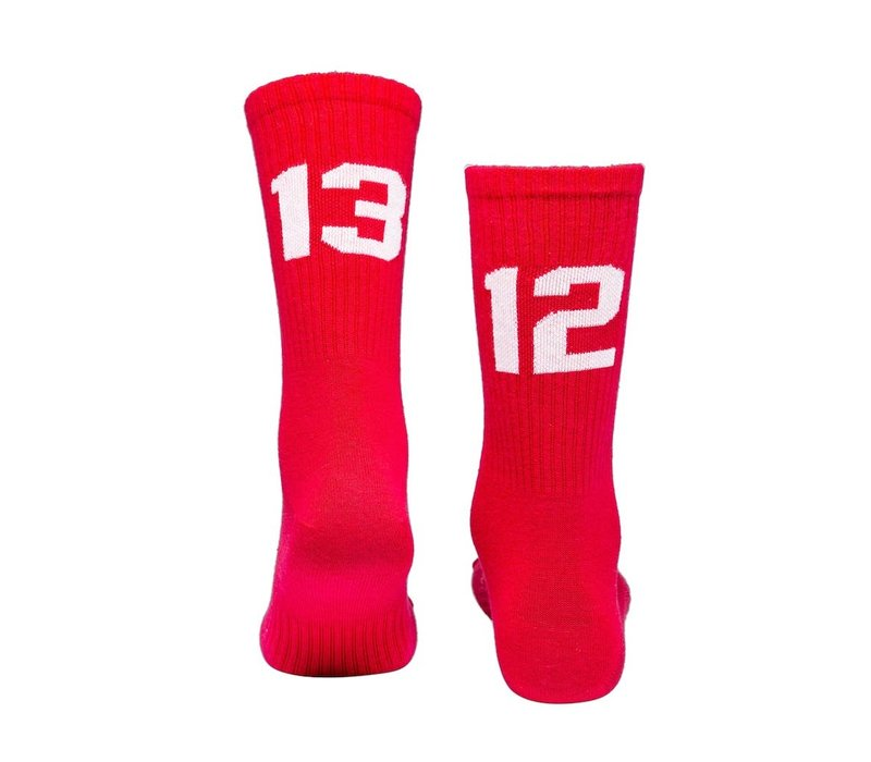 Sixblox. 1312 socks Red/White