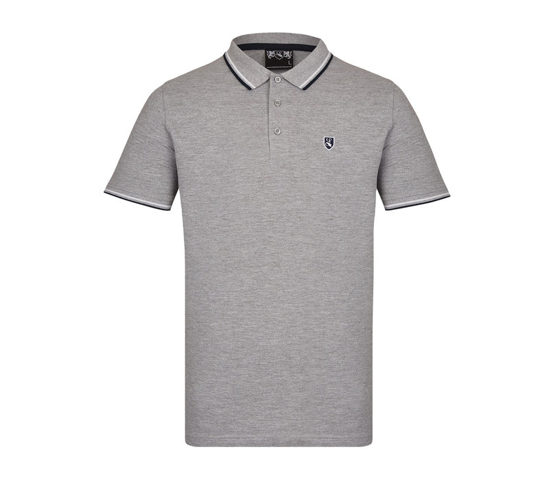 Lockhart buckler tipped polo shirt Grey