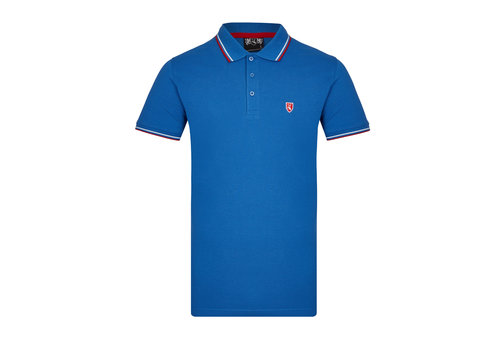 Lockhart Lockhart buckler tipped polo shirt Royal blue