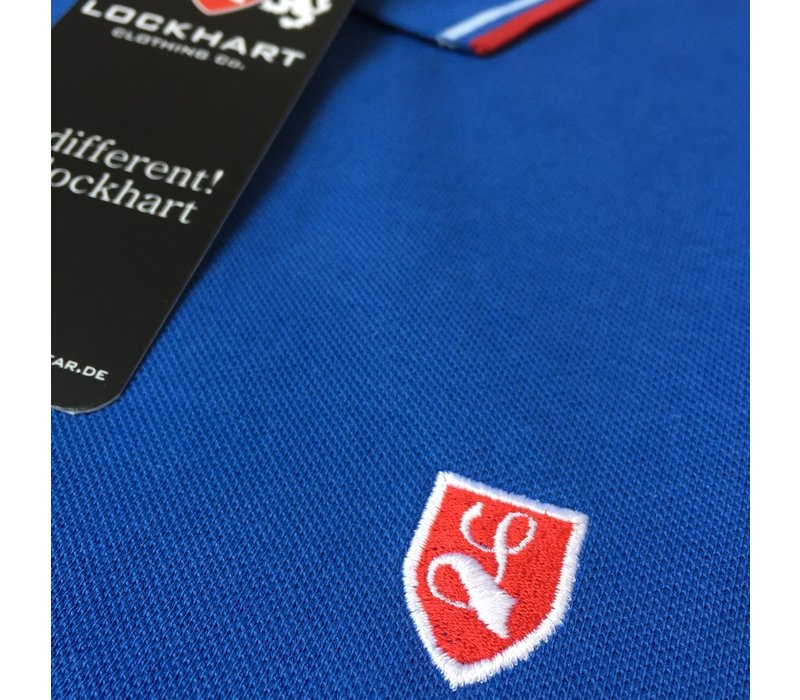 Lockhart buckler tipped polo shirt Royal blue