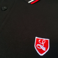 Lockhart buckler tipped polo shirt Black