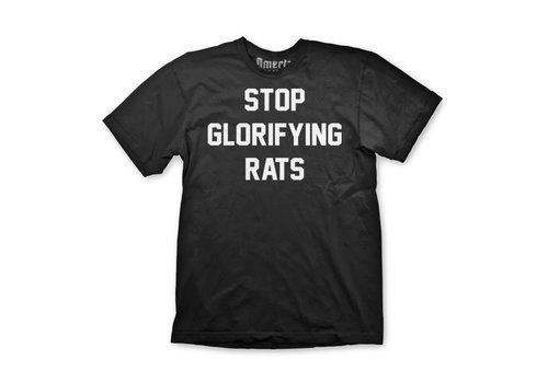 Omerta Omerta stop glorifying rats t-shirt Black