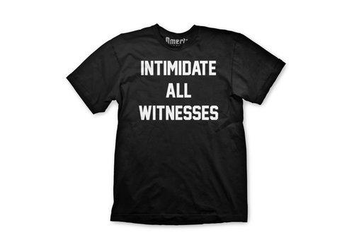 Omerta Omerta intimidate all witnesses t-shirt Black