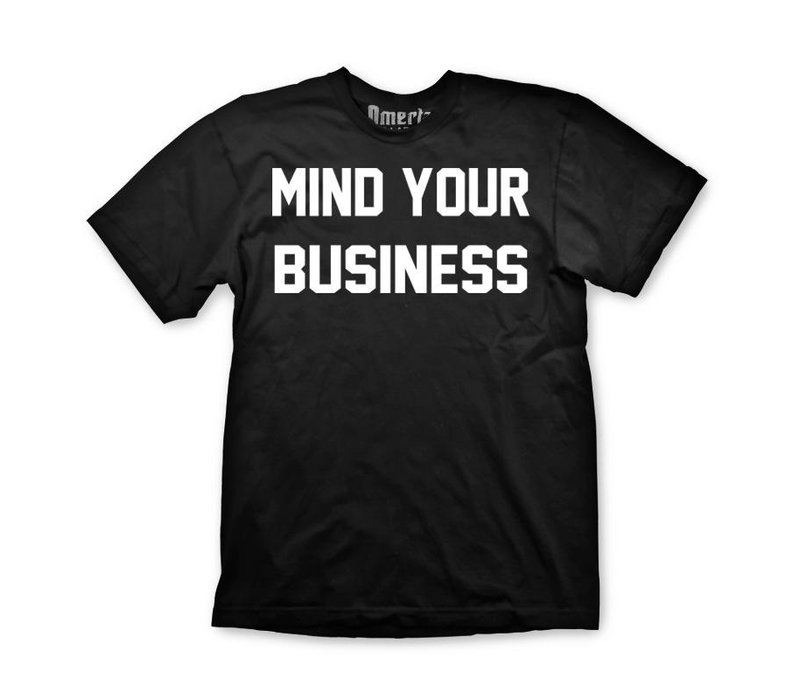 Omerta mind your business t-shirt Black