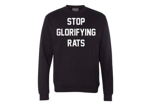 Omerta Omerta stop glorifying rats crew neck sweatshirt Black