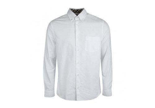 Aquascutum Aquascutum bevan classic oxford long sleeve shirt White