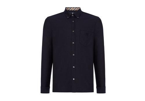 Aquascutum Aquascutum bevan classic oxford long sleeve shirt Navy