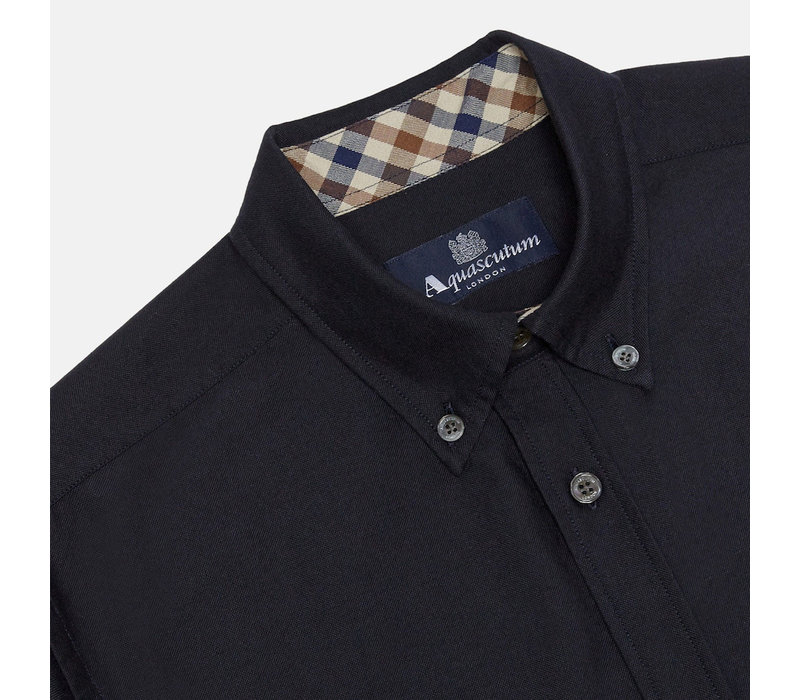 Aquascutum bevan classic oxford long sleeve shirt Navy