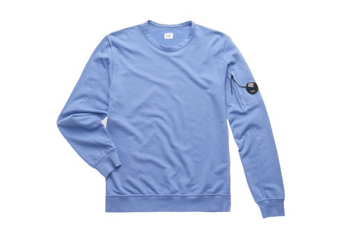 C.P. Company C.P. Company garment dyed light fleece lens crew sweatshirt Dutch blue