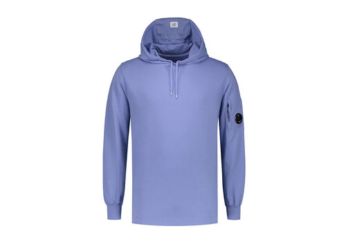 C.P. Company C.P. Company garment dyed light fleece lens hooded sweatshirt Sterling blue