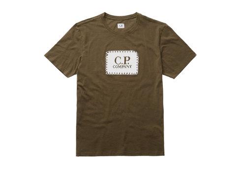 C.P. Company C.P. Company jersey 30/1 label print crew t-shirt Green